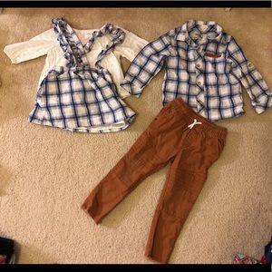 Boy/girl twins Osh Kosh Matching 4pc set